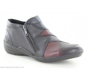 Boots femme Remonte ROND Noir R7674-02
