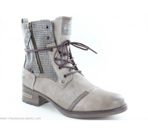 Bottines femme Mustang AVRIL Taupe
