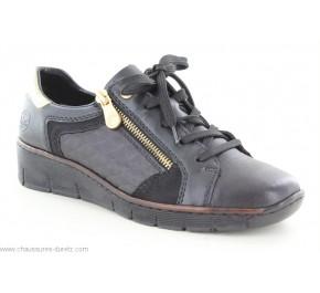 Chaussures femme Rieker EMAIL2 Noir / Or 53703-00