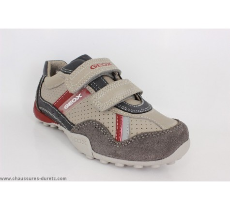 Geox SNAKE Gris / Rouge