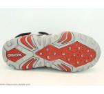 Sandales Geox KRAZE Gris / Rouge