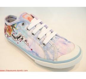 Chaussures filles Géox KIWI GIRL Fleur Bleu