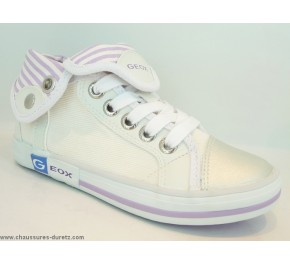 Baskets filles Géox KIWI GIRL Blanc / Lilas