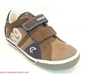 Chaussures garçon Géox GLOBO Velcro Marron