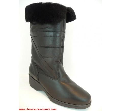 bottes femme fourr es rurme noir boots bottes ombelle. Black Bedroom Furniture Sets. Home Design Ideas